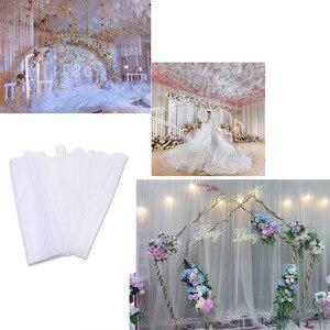 Image 2 - Tulle décoratif en rouleau de tissu en Organza pour décoration de mariage, 5 mètres x 48cm, ceinture de chaise en arc, fournitures pour fêtes prénatales 7