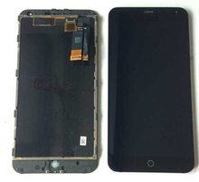 5.5″ Black color lcd display+touch screen digitizer+frame assembly repair parts for meizu Meilan M1 Note free shipping