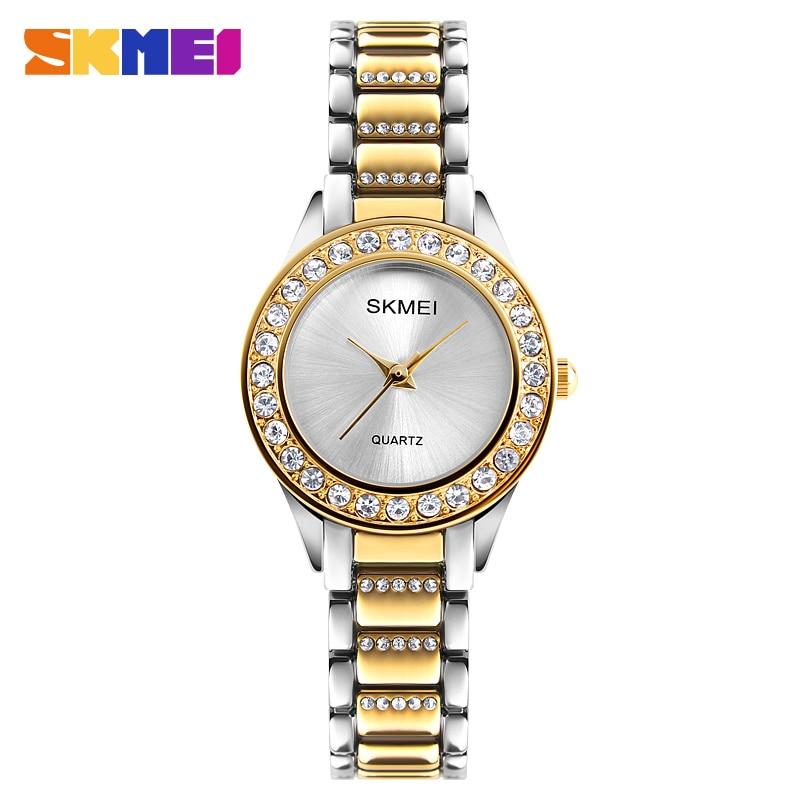 2dea103c9e15 SKMEI Relojes de Mujer de Cuarzo Top Marca de Lujo Reloj de Damas ...