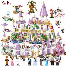 Princess Castle Compatible Legoed Architecture Friends House City Castle With Figures Building Blocks Villa Children Girls Toys