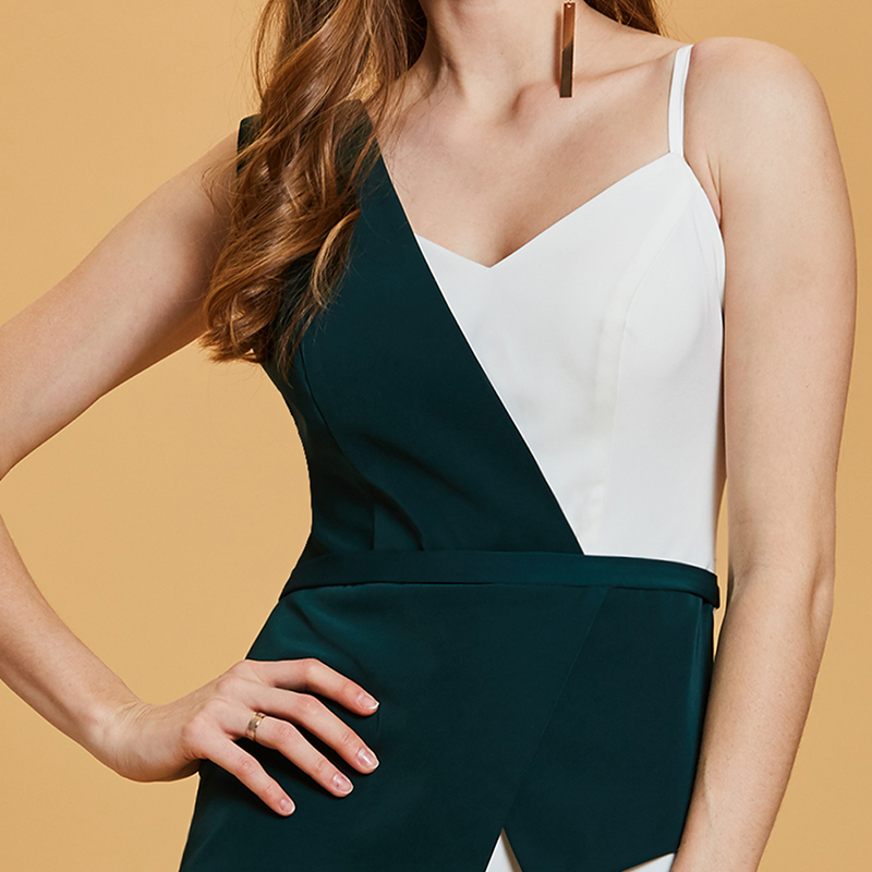 e17cf9fcb6d Tanpell sheath jumpsuits evening dress green sleeveless ankle length gown  new women homecoming party formal long evening dresses-in Evening Dresses  from ...