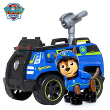 ФОТО paw patrol puppy patrol dog chase anime toys figurine car toy action figure model patrulla canina toys children gifts