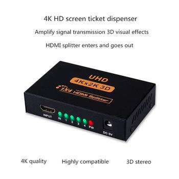 HDMI 1 In 4 Out 1080p 4K 1x2 HDCP Stripper 3D Splitter Power Signal Amplifier 4K HDMI Splitter For HDTV DVD PS3 Xbox