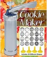 Cookie Extruder Press Machine Aluminium Biscuit Maker Cake Making Decorate Gun Cookie Cutter Baking Tool 20