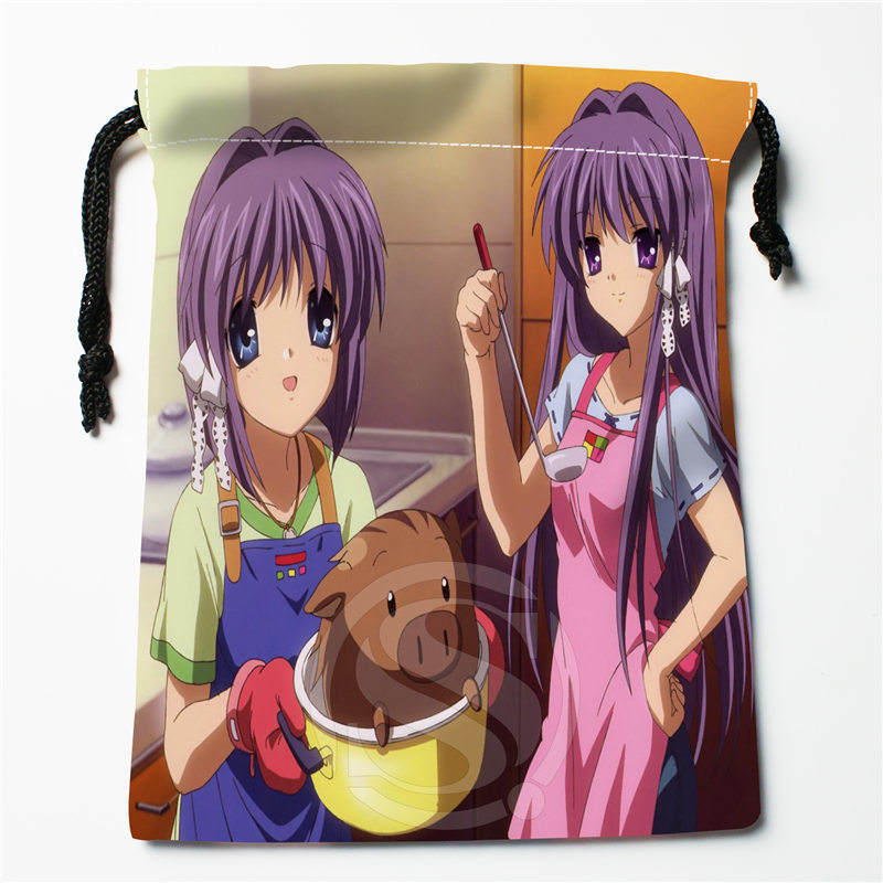 J&w55 New CLANNAD #7b Custom Printed  Receive Bag Compression Type Drawstring Bags Size 18X22cm W725&Dq55W