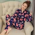 2016 зимние длинные сексуальные кружева хлопка пижамы халаты женщины свадебные одежды кимоно халат платье твердые рубашки партия ночная рубашка