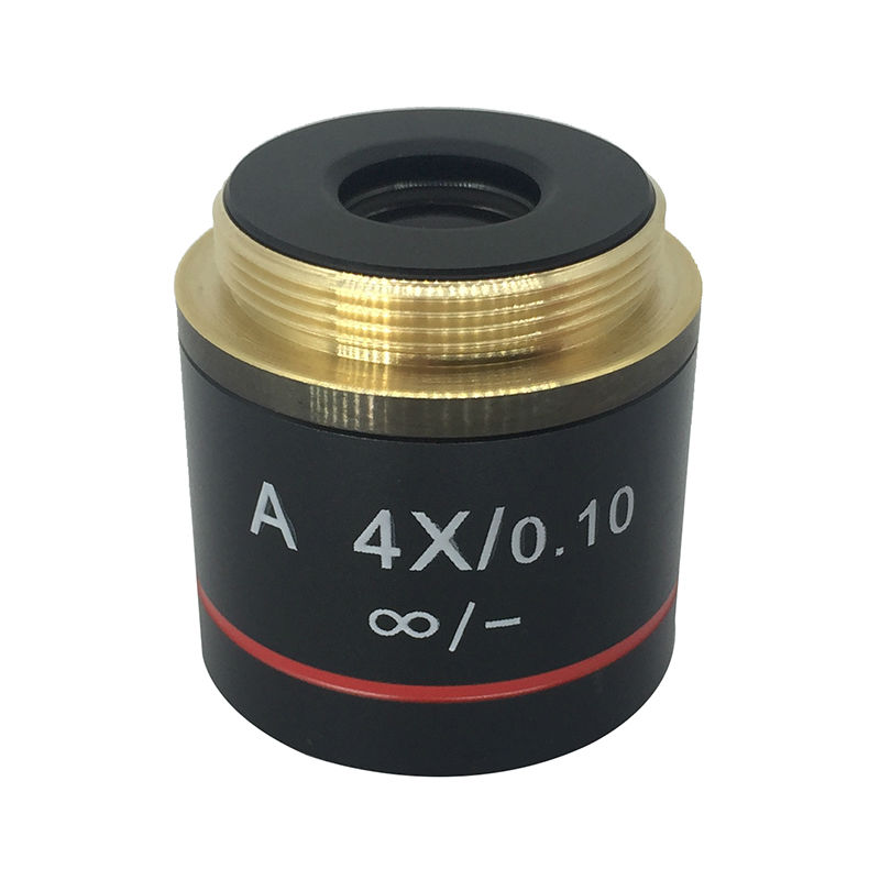 4X Achromatic Infinite Infinity Plan Objective Lens for Biological Microscope Zeiss Olympus Infinity Microscope leetun a 4x 0 10 achromatic infinity objective lens for biological microscope zeiss olympus infinity microscope