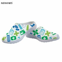 INSTANTARTS Medical/Nurse Pharmacy Tech Pattern White Female Beach Shoes Outdoor Light Summer Slippers Air Mesh Sandals Adults