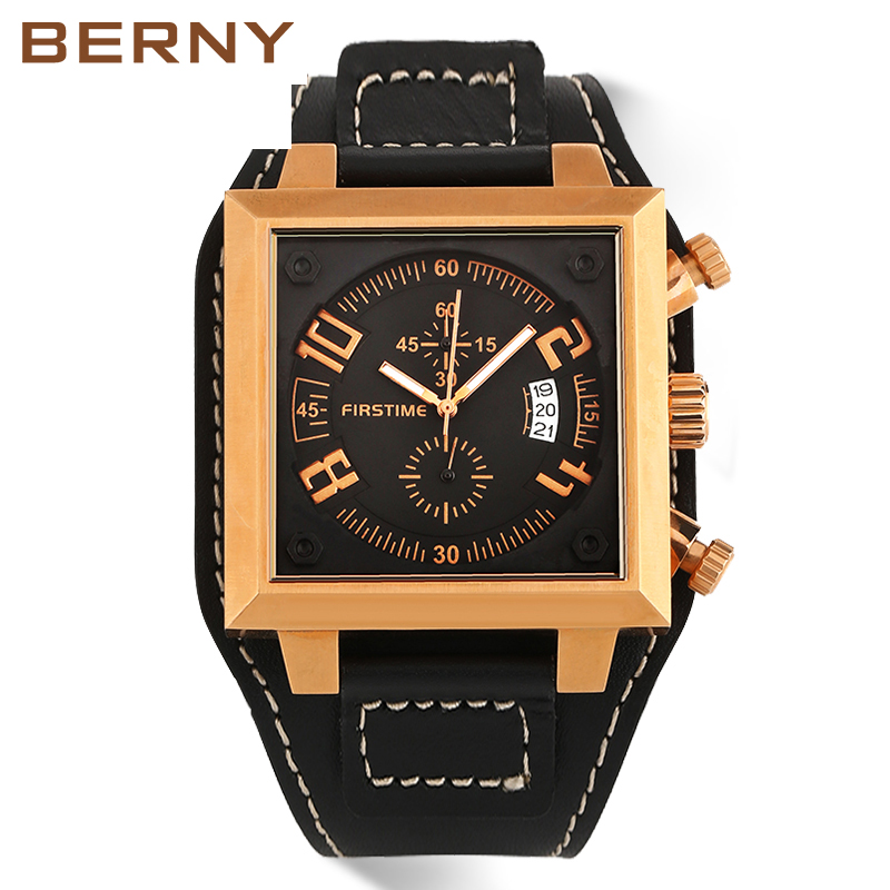 BERNY 2017 Gold Role luxury relogio masculino Top Brand Fashion Sports Man Big Dial Waterproof Watch for relogio masculino 2269M