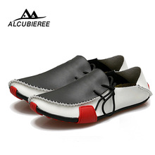 Купить с кэшбэком 2019 New Casual Leather Men Shoes Fashion Comfortable Slip on Men Flats Loafers Moccasins Famous Brand Big Size 38-47