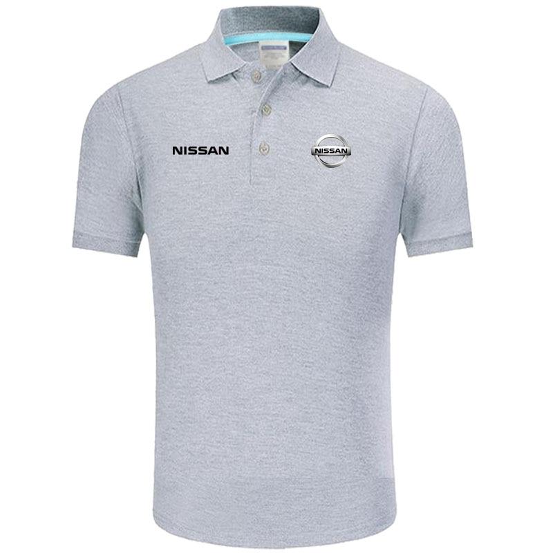 High quality logo crocodil Nissan logo   Polo   classic brand Men   Polo   Shirt Men Casual solid Short Sleeve cotton   polos