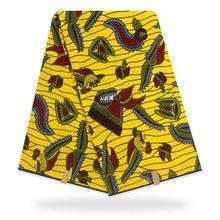 New design african real wax,Yellow wax print fabric ankara for kitenge dress making Y-235