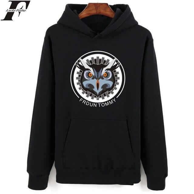 7ddd0843b075 Luckyfridayf owl wolf druck hoodies männer marke designer herren sweatshirt  fashion stil streetwear herren pullover