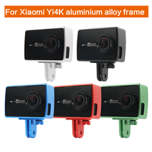 Action Camera Accessories Protective Aluminum Frame For Xiaomi Yi 4K Camera Case Cover w/Mount Adapter For Xiaoyi 2 II 4K цена