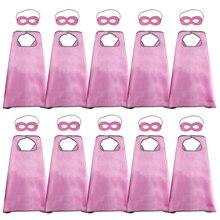 Специальные 10 шт. сатиновая мягкая розовая накидки и маски карнавальные костюмы для девочек нарядное платье вечерние украшения карнавальные аксессуары