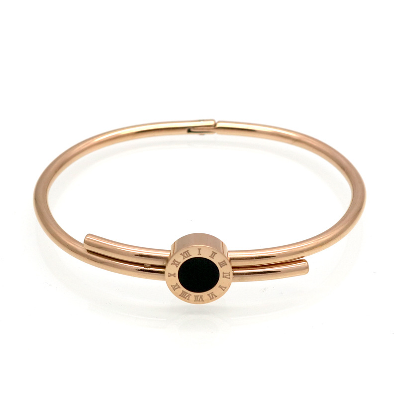 2017 New Fashionablel stainless steel Gold Silver Plated Big Circle Bangles & Bracelets for Women pulseiras