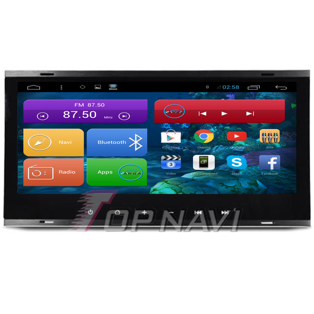8.8'' Quad Core Android 4.4 Car GPS for VW Old Touareg 2003 2004 2005 2006 2007 2008 2009 2010 With Radio Stereo Map Mirror Link