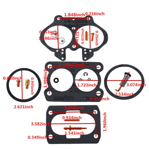4.3l 5.0l 5.7l mercarb 2 bbl carburador