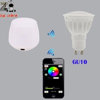 Dimmable Mi Light 2 4g GU10 4w Led Bulb Rgbw Rgbww Led Spotlight Wireless Wifi Box