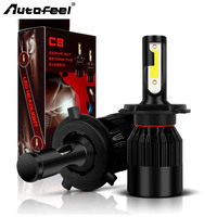 Autofeel 72W 8000LM H7 H4 LED H11 H1 H13 9005 9006 9007 Car LED Headlight COB