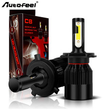 Autofeel 72W 8000LM H7 H4 LED H11 H1 H13 9005 9006 9007 Car LED Headlight COB Auto Fog Lamp Bulb 6500k Pure White 2017 NEW 12V