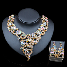 Lan palacio de perlas africanas joyería conjunto chapado en oro collar y pendientes sistemas de la joyería nupcial para la boda del envío libre