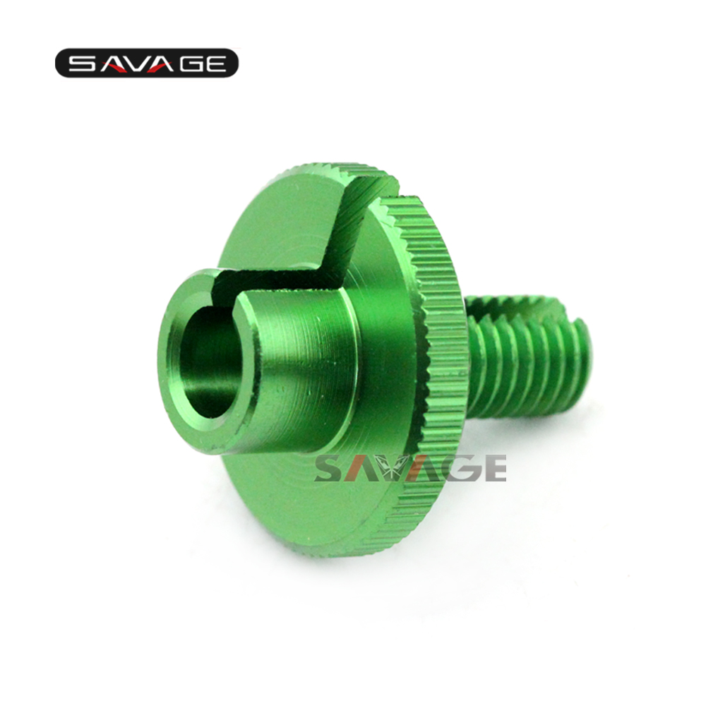 For KAWASAKI Z750 Z800 Z1000 Z1000SX VERSYS 1000 ZZR400 ZZR600 Clutch Cable Wire Adjuster M10*1.5 Green Motorcycle Accessories
