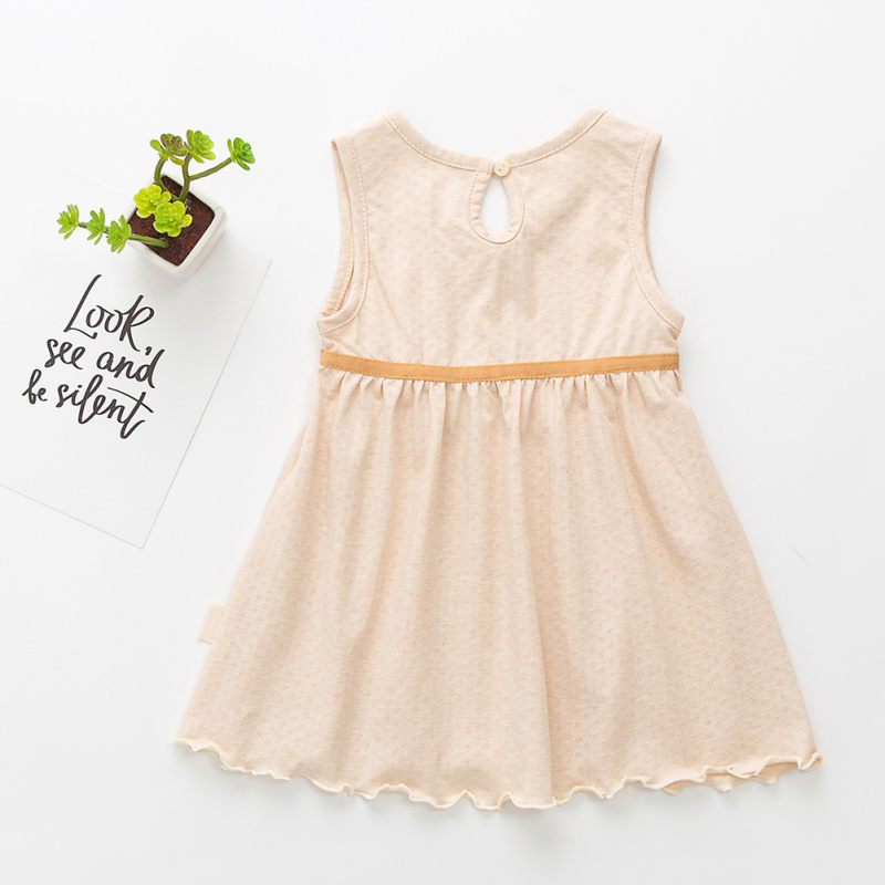 Baby Girl Dress 0-2T Newborn Cute Baby Bow-knot Cotton Sleeveless Children's Pleated  Dress Infant Baby Dress Baby Clothes NEW