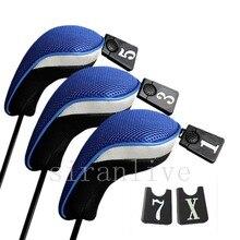 3 шт./компл. Крышка для клубных головок, мягкие деревянные головные уборы для гольф-клуба, профессиональные Чехлы для клюшек для гольфа, защитный набор, 5 цветов