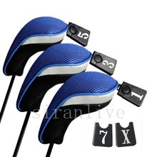 3Pcs/Set Club Heads Cover Soft Wood Golf Club Driver Headcovers Professinal Golf Head Covers Protect Set 5 Colors(China)
