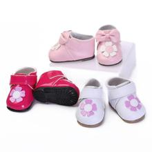 Handmade Fashion Princess Flower Shoes For 50-55cm Silicone Reborn Baby Girl Doll Newborn Babies Dolls Shoes Accessories
