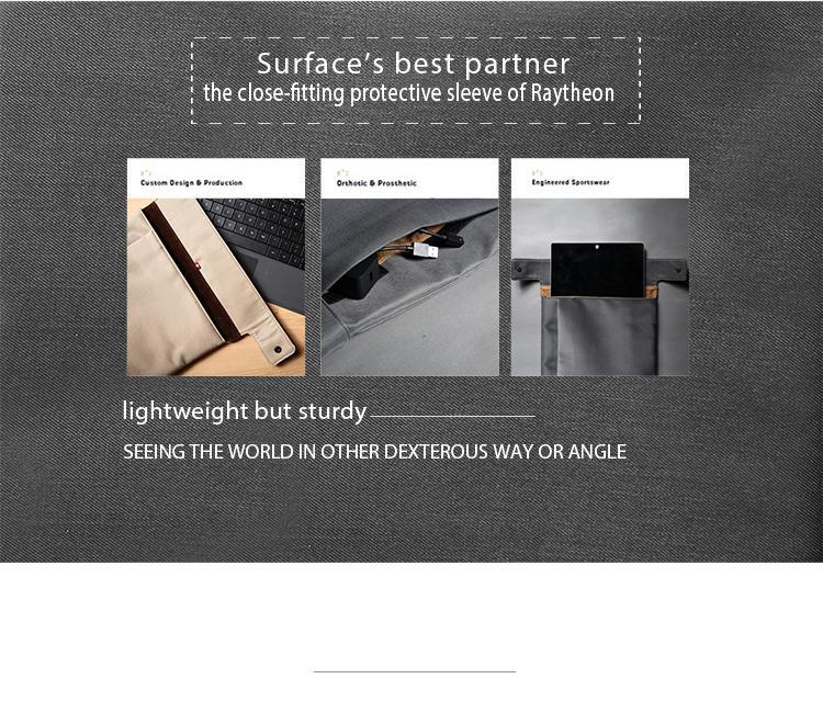 משלוח חינם D-פארק Microsoft Surface Pro 4/3 תיק / קייס, אופנה חדשה ניילון אריג תיק שרוול עבור Surface Pro 4/3 המקרים