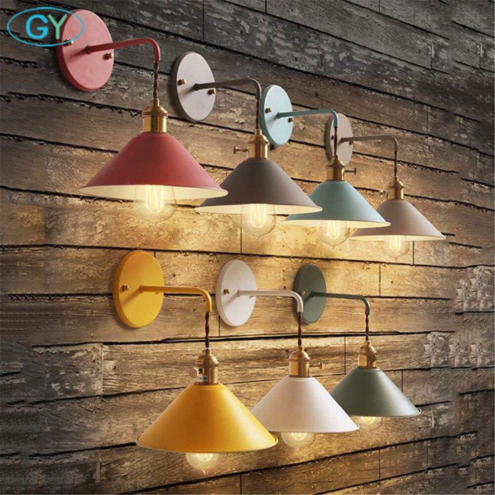 Lampes design style Nordique moderne bouton commutateur éclairage mural salon escalier allée chambre lampe de chevet parapluie mur luminaire