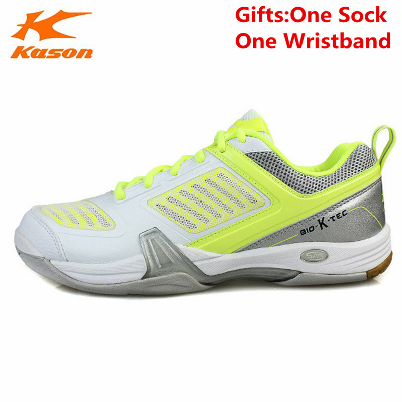 Kason Men's Badminton Shoes Breathable Cushioning Lace-Up Athletic Sneakers Sports Shoe FYZH005 Anti-Slippery L641 male athletic shoes breathable cushioning outdoor sport sneakers men lace up anti skid hunting krasovki zapatilla hiking shoes