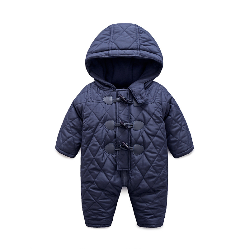 Newborn Baby Boys Girls Rompers Winter Thick Warm toddler Hooded Jumpsuit clothes Infant baby Cartoon roupas Kids Outwear suit newborn baby jumpsuit warm winter boys and girls toddler rompers cartoon animal wolf long sleeves overalls cotton kids clothes