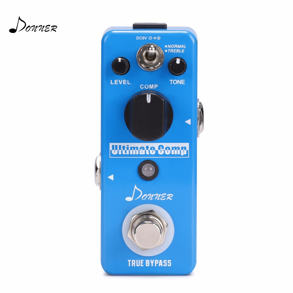 Donner Ultimate Comp Compressor Guitar Effect Pedal Compress Pedals True Bypass Electric Guitar Accessories Blue