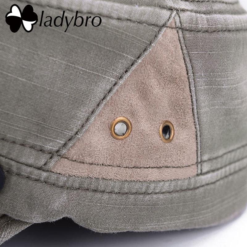 Ladybro Men Hat Cap Women Flat Army Hat Snapback Female Baseball Cap - Kledingaccessoires - Foto 6