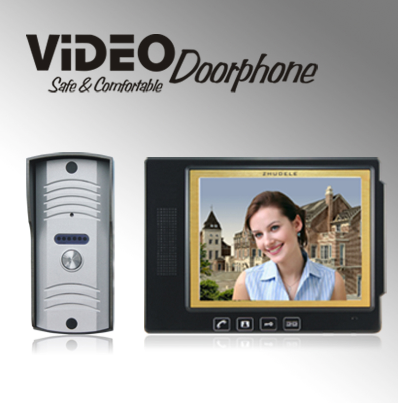 ZHUDELE home doorbell luxury 8.3 video door phone metal die-casting ,waterproof explosion-proof 700TVLine HD IR camera 1 V 1