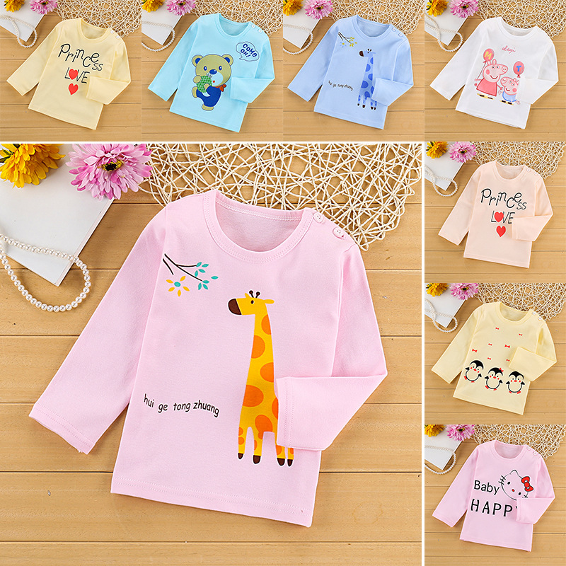 Kids Toddler Infant Clothes Baby Girls Boys Tshirt Cartoon Long Sleeve T shirts Hello Kitty t-shirt Tees Children Clothing 6M-5T