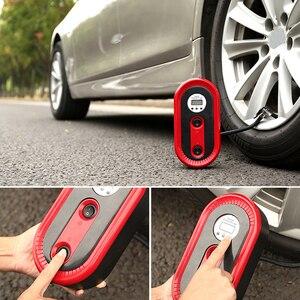 Image 5 - Mini pompe à Air Portable pour véhicule, compresseur dair pour véhicule, arrêt automatique et éclairage durgence pour véhicule, outil de réparation