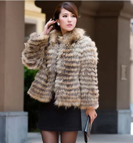 New Fashion Winter Natural Raccoon Dog Fur Coat Wholesale Womens Lovely  Clothes Real Fur Coats For Women Genuine Furs Overcoat - Sewing Real Fur Promotion-Shop For Promotional Sewing Real Fur On