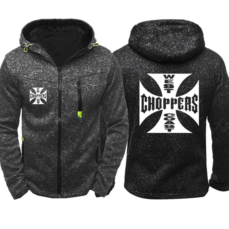 Spring Autumn Sweatshirt West Coast Choppers Hoodies Men Streetwear Fleece Zipper Hooded Jacket Hip Hop Harajuku Tracksuit