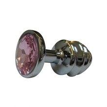 Эротические игрушки берг кристалл серебряный цвет металла дворе Нержавеющая сталь Plug Анальный сцепного устройства секс-игрушки o70309