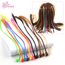XIMA 6pcs/set Girls Hair Accessories Plastic Hair Clip with Long Braid Tails Hair Clips For Children Kids Boutique Headwear