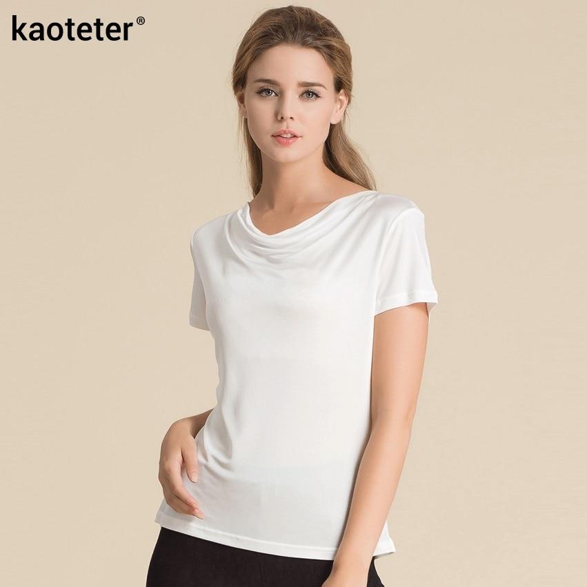 100% մաքուր մետաքսե կանացի շապիկներ - Կանացի հագուստ - Լուսանկար 6
