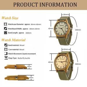 Image 4 - BEWELL לשני המינים זברה במבוק עץ שעון Mens שעונים למעלה מותג יוקרה נשים שעונים בד להקת עץ גברים ספורט שעון 124B