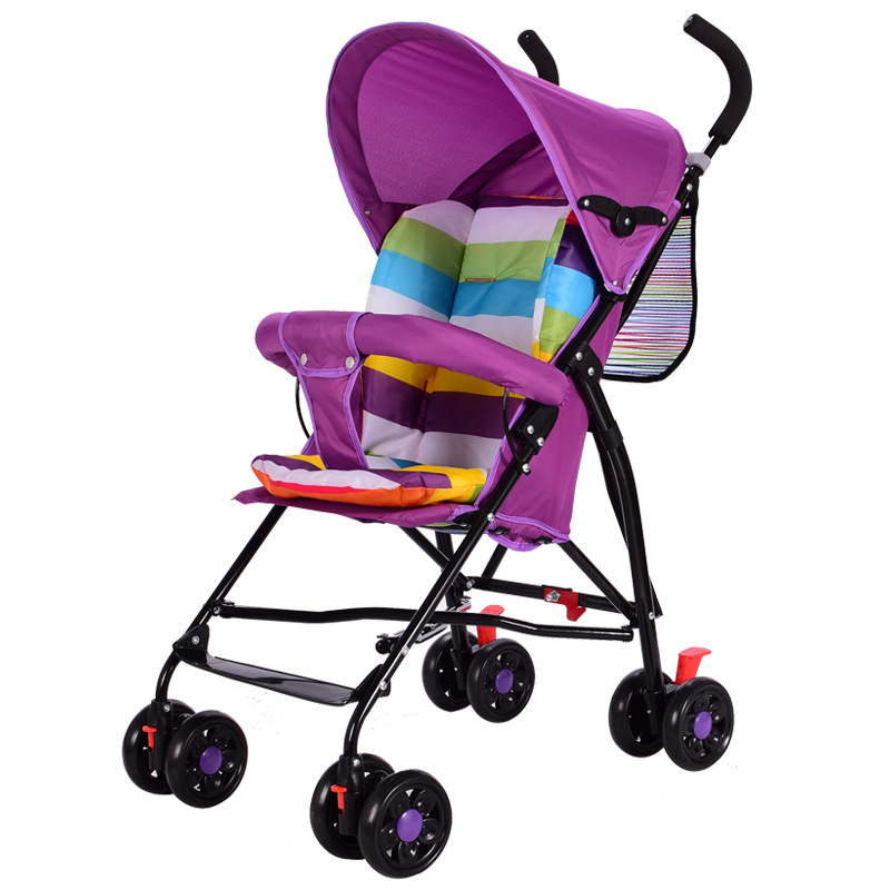 ФОТО babysing baby car four wheel baby stroller 0-3years candy colors easy to install and easy to use