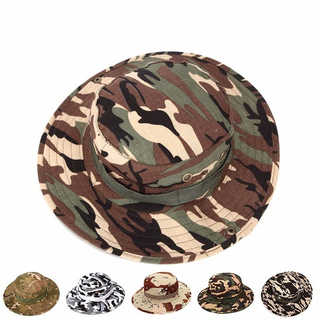 e6ac33b52a9b5 7 Colors Airsoft Sniper Camouflage Nude Bucket Fishing Hats ...