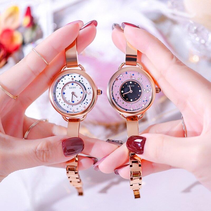 Clássico estilo calendário grande de marcação de quartzo cinto de couro moda simples relógio de senhora quarz relógio à prova d' água - 3