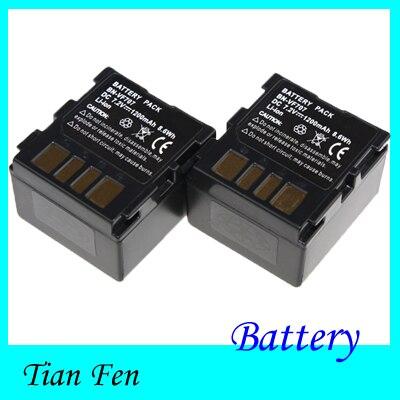 2PCS 7.2V 1200mAh BNVF707 Rechargerable Battery BN-VF707 BN VF707 Li-ion Battery For JVC ...